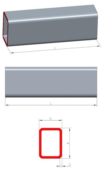 rechteckrohre nach ma die bleche und bleche auf ma. Black Bedroom Furniture Sets. Home Design Ideas